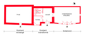 architecture-feng-shui / Luc Antoine / tripartition plan