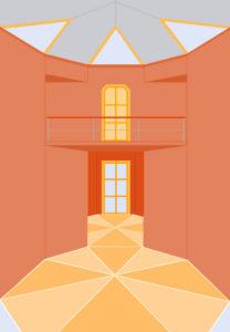architecture-feng-shui / Luc Antoine / perspective intérieure