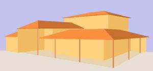 architecture-feng-shui / Luc Antoine / Amérique du Sud perspecrive